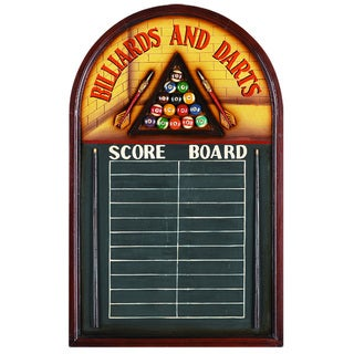 Billiards and Darts Chalkboard Scoreboard Wall Decor