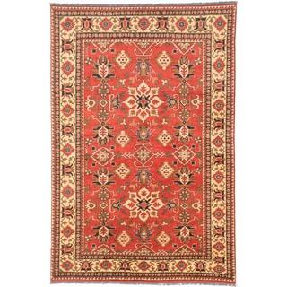ecarpetgallery Finest Kargahi Brown Wool Rug (6'8 x 9'11)