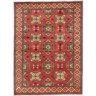ecarpetgallery Finest Kargahi Brown Wool Rug (7 x 9'6)