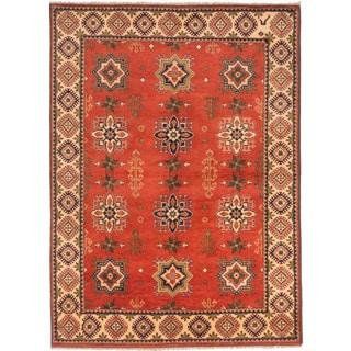 ecarpetgallery Finest Kargahi Brown Wool Rug (6'10 x 9'4)