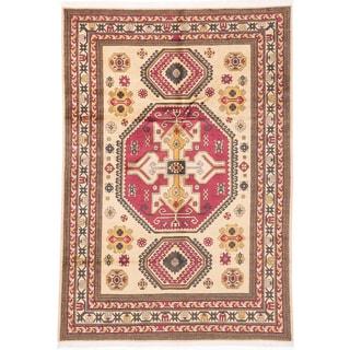 ecarpetgallery Keisari Yellow Wool Rug (6'8 x 9'9)