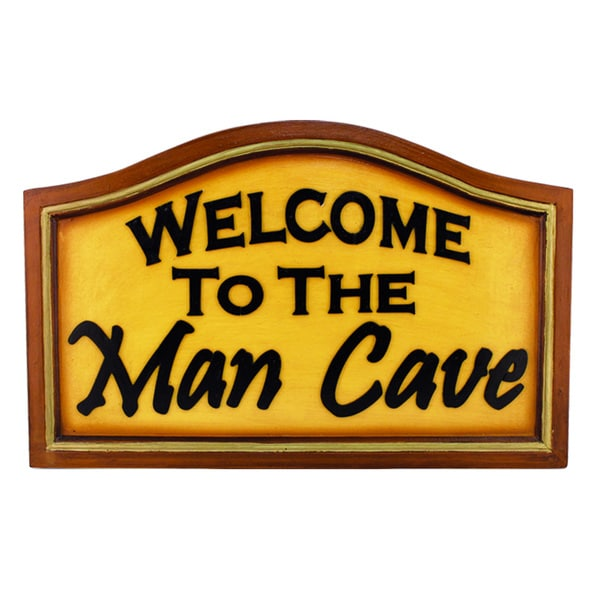 Welcome to the Man Cave Hanging Wall Decor