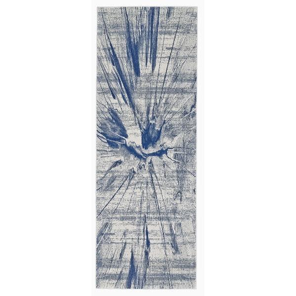 Feizy Caslon Cobalt Power-loomed Runner Rug (2'10 x 7'10 )