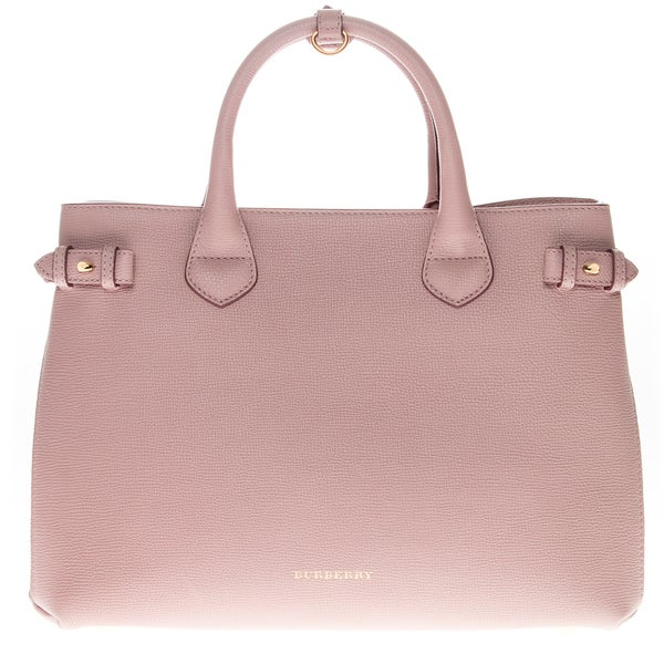 Burberry Pink Medium Banner in Leather and House Check