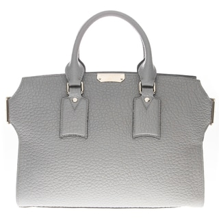 Burberry Grey Medium Grained Leather Clifton Bag