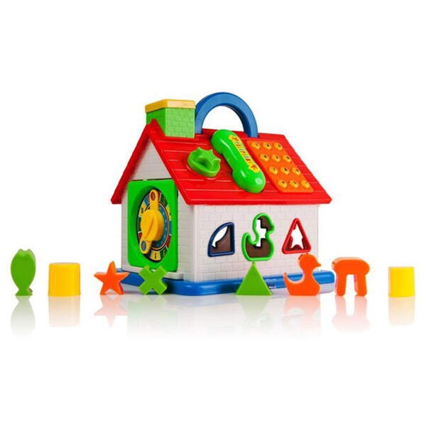 Dimple DC11608 Baby Toy House-Shape Sorter, Telephone and More