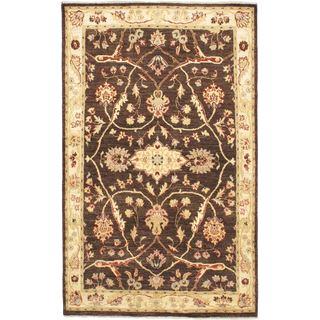 ecarpetgallery Chobi Black Wool Rug (4'4 x 7'2)