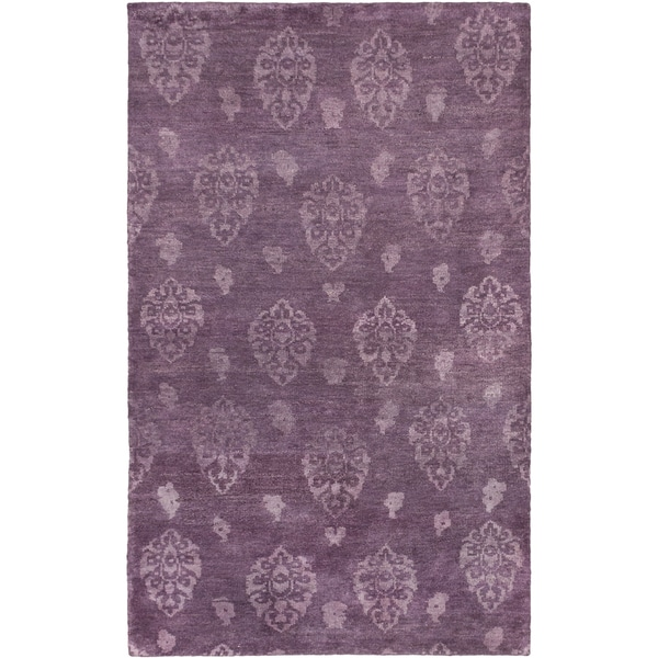ecarpetgallery Royal Maroc Purple Wool Rug (4'10 x 7'10)
