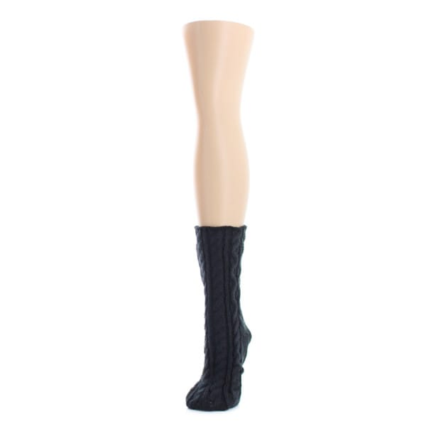 Memoi Women's Cable Braid Chunky Knit Boot Sock