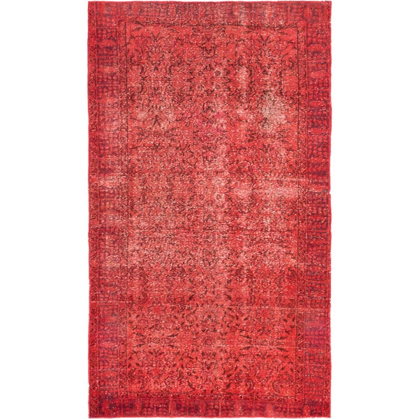 ecarpetgallery Color Transition Red Wool Rug (4'4 x 7'6)