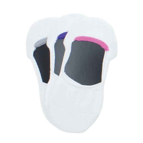 Memoi Women's Invisible Sneaker Liner w Contrast Trim Heel Liner (Pack of 3)