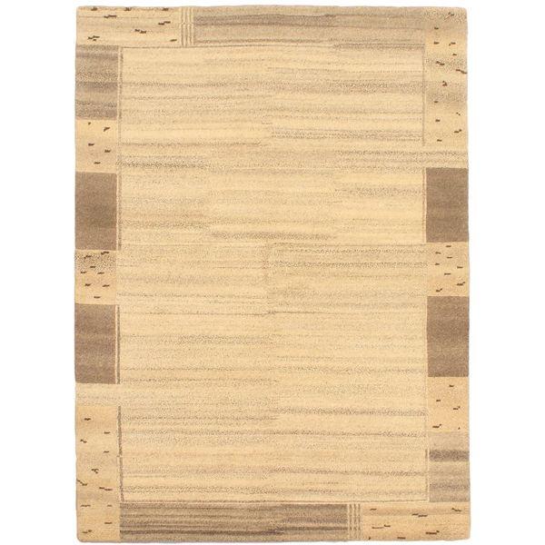 ecarpetgallery Zen Beige Wool Rug (5'9 x 8)