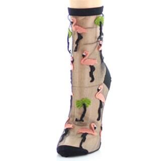 Memoi Women's Flamingo Sheer Anklet
