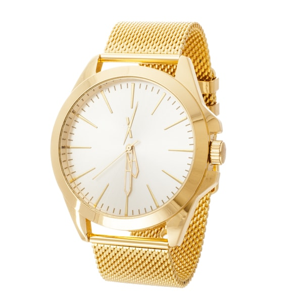 Xtreme Men's Gold Case and Strap / Silver Dial Mesh Watch