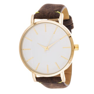 Xtreme Men's Gold Case and White Dial / Brown Leather Strap Watch