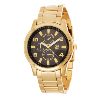 Xtreme Men's Gold Case and Strap / Black Dial Watch