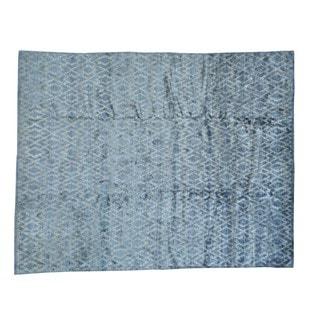Hand-knotted Bamboo Silk Geometric Design Modern Rug (9'2 x 11'6)