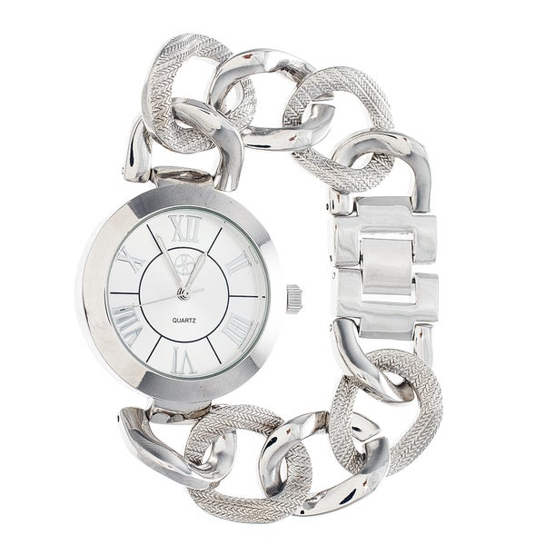Fortune NYC Ladies Silver Case & Dial / Silver Chain Strap Watch