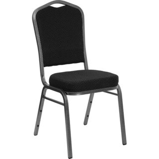 Decor Black Upholstered Stack Dining Chairs