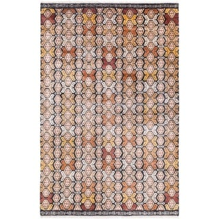Hand Knotted Englandsong Bamboo Silk/Wool Rug (9' x 13')