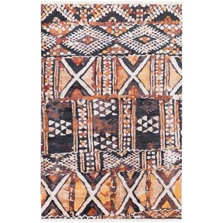 Hand Knotted EnglandSomerset Bamboo Silk/Wool Rug (9' x 13')