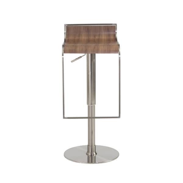 Forest Bar Counter Stool Walnut Satin Nickel 18146308