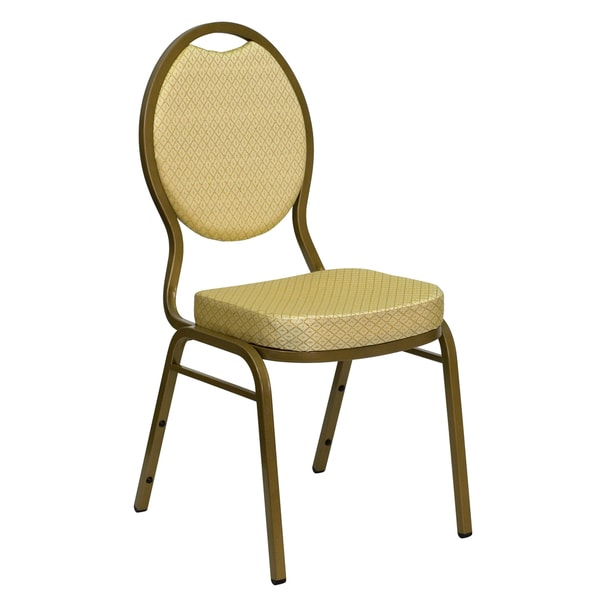 Larks Beige Upholstered Stack Dining Chairs