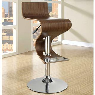 Wenge Bent Wood Hydraulic Barstool 13580437 Overstock