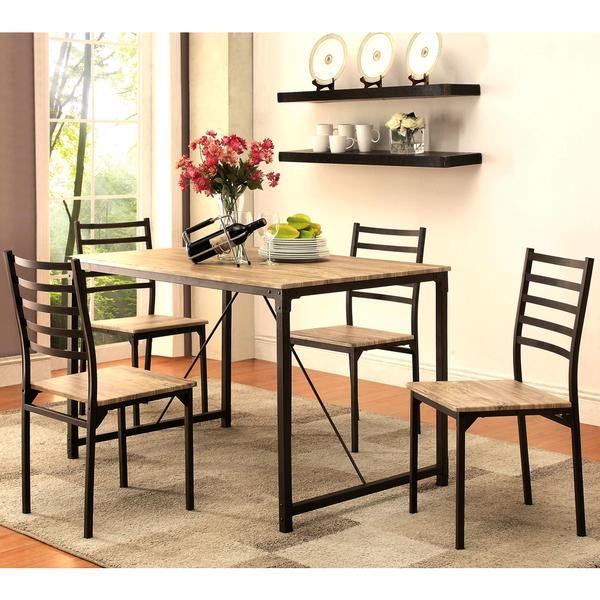 Imperial Rustic Industrial Design 5 Piece Dining Set