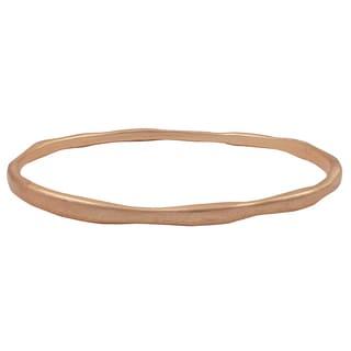 Matte Gold Finish Curved Bangle Bracelet