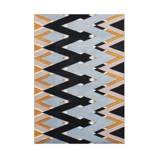 Alliyah Handmade Zig Zag Pattern New Zealand Blend Wool Rug (5' x 8')