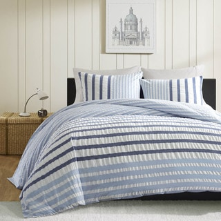 Porch & Den Menahan Blue Duvet Cover Set