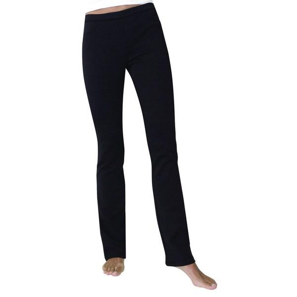 Memoi Women's Ponte Boot Leg Leggings