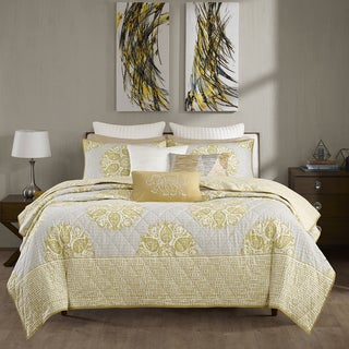 INK+IVY Melbourne Yellow Coverlet 3 Piece Set