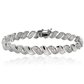 DB Designs Silver Tone 1/10ct TDW Diamond San Marco Bracelet