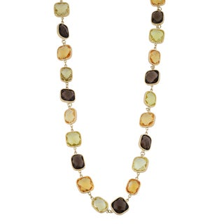 Fremada 14k Yellow Gold Multi Gemstones Necklace (17 inches)