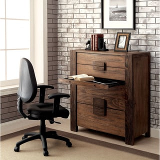 Furniture of America Shaylen Rustic Natural Tone Chest with Writing Tray