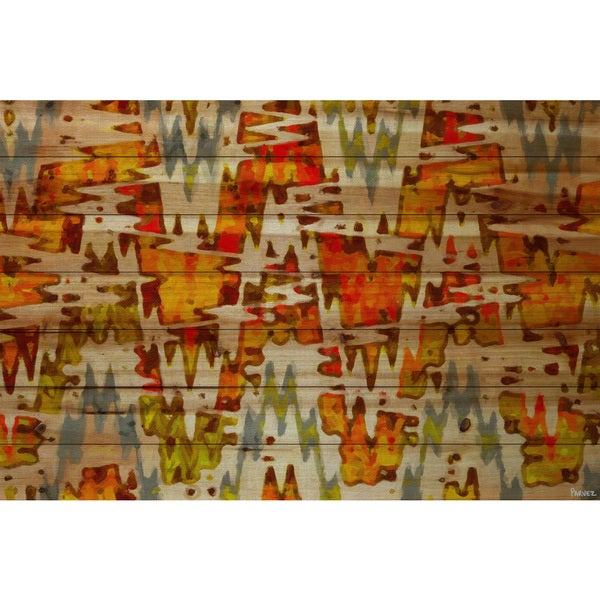 "Parvez Taj - ""Norwegian Wood"" Painting Print on Natural Pine Wood"