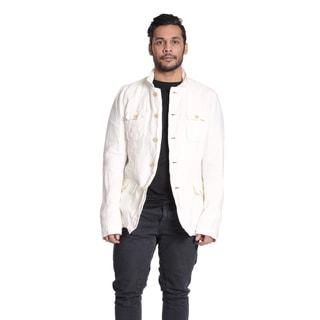 Excelled Men's Linen White Shirt Jacket