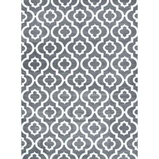 Grey Moroccan Trellis Area Rug (2' x 7')