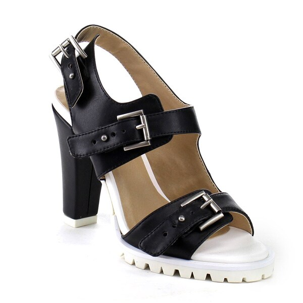 Beston AB04 Women's Lug Sole Slingback Heels