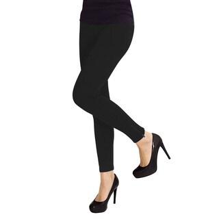 Memoi Women's Ankle Zipper Leggings