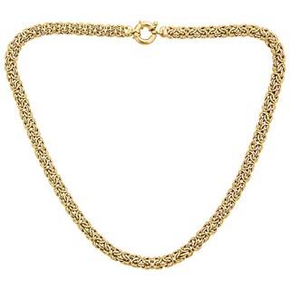 14k Yellow Gold 7mm Byzantine Necklace