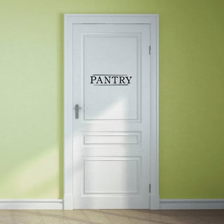 Pantry Wall Decal 18-inch wide x 4.5-inch tall