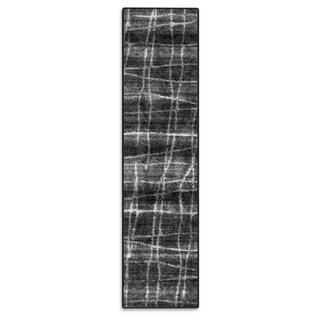 nuLOOM Contemporary Trellis Dark Grey Runner Rug (2'5 x 9'5)