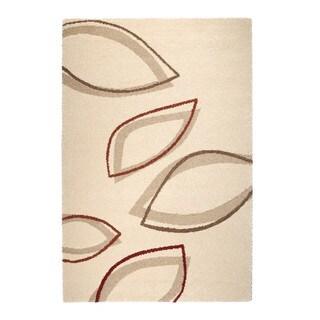 """Somette Montello Collection Cream Geometric Area Rug (6'7"""" x 9'6"""")"""