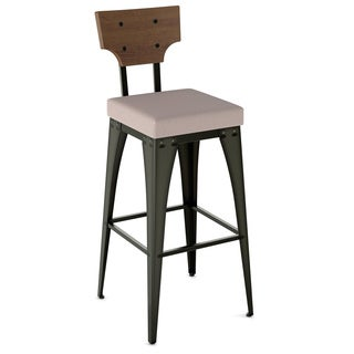 Amisco Rally Metal and Wood Counter Stool