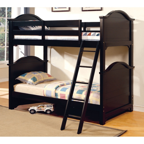 Furniture of America Ashlee Classic Arched Black Bunk Bed