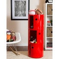 Somette Gavins Room Large Red 3-Compartment Storage Unit