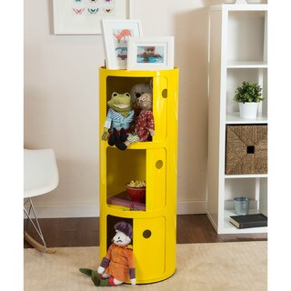 Somette Gavins Room Large Yellow 3-Compartment Storage Unit